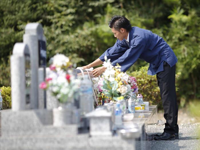 墓石管理の写真